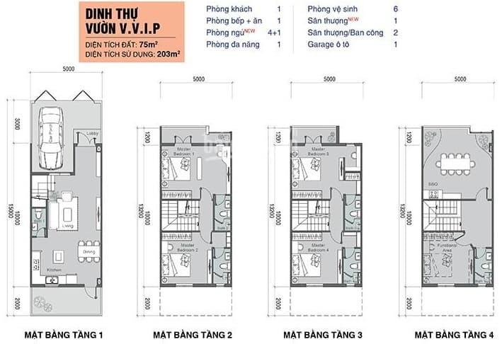 Biệt thự 4 tầng Valencia Quận 9 cần bán gấp, giá chỉ bằng căn 3 tầng